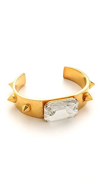 TOM BINNS Spike & Crystal Cuff Bracelet