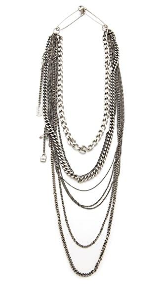 TOM BINNS Layered Chain Necklace