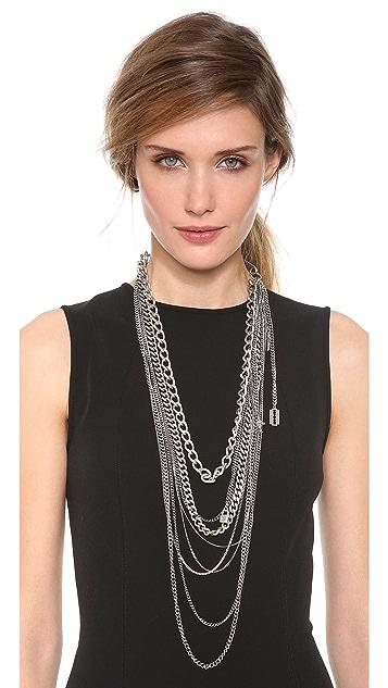 TOM BINNS Layered Chain Necklace
