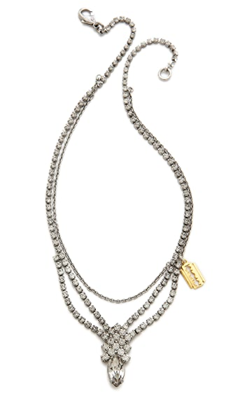 TOM BINNS Crystal Razor Blade Necklace