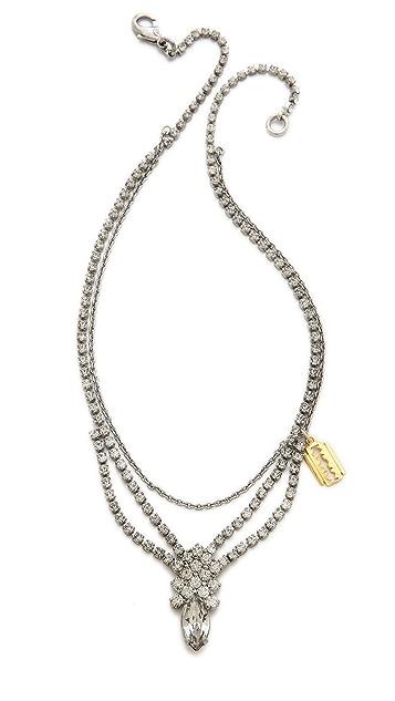 TOM BINNS Crystal Razor Blade Necklace
