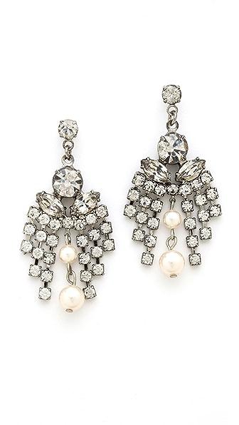 TOM BINNS Grande Dame Crystal Earrings