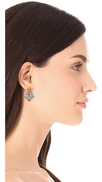 TOM BINNS Neon Crystal Earrings