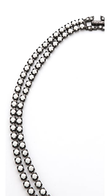 TOM BINNS Carte Blanche Tiered Necklace