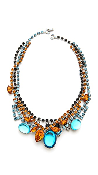 TOM BINNS Topaz & Crystal Tangled Necklace