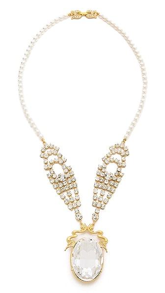 TOM BINNS Crystal Pendant Necklace