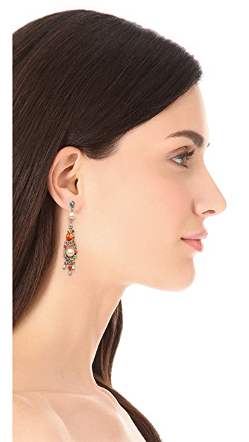 TOM BINNS Splattered Paint Crystal Earrings