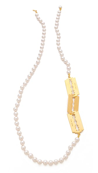 TOM BINNS 3 Razor Blade Necklace