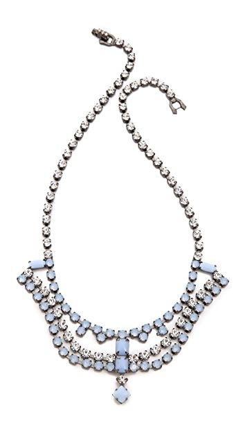TOM BINNS Neopolitano Cystal Necklace
