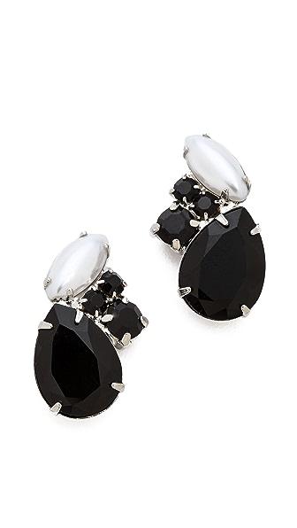TOM BINNS Dumont Noir Crystal Stud Earrings