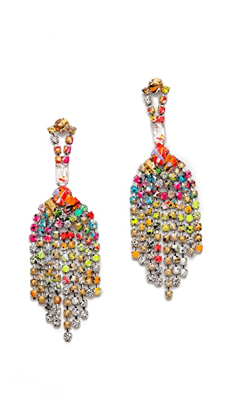 TOM BINNS A Riot of Color Splash Earrings