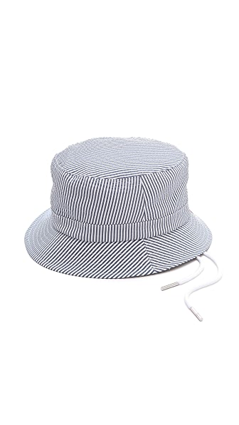 Thom Browne Swimsuit Seersucker Fisherman Hat