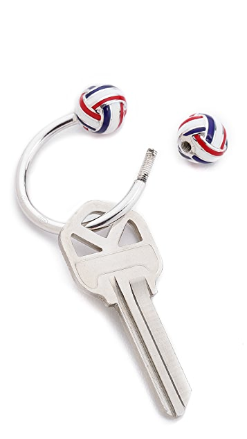Thom Browne Silver Knot Key Ring