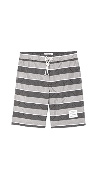 Thom Browne Anchor Print Board Shorts