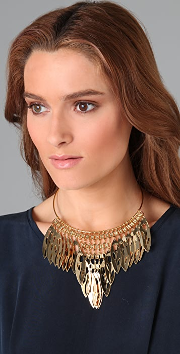 Theodora & Callum Leaf Fringe Necklace