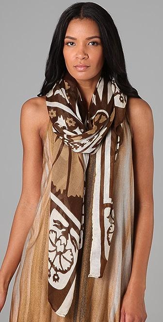 Theodora & Callum Mosaic Border scarf