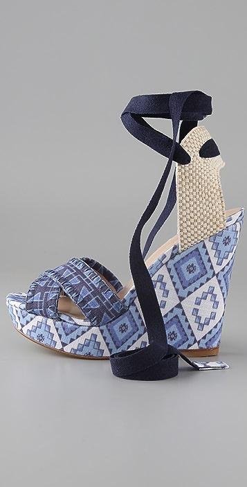 Theodora & Callum Biarritz Wedge Sandals