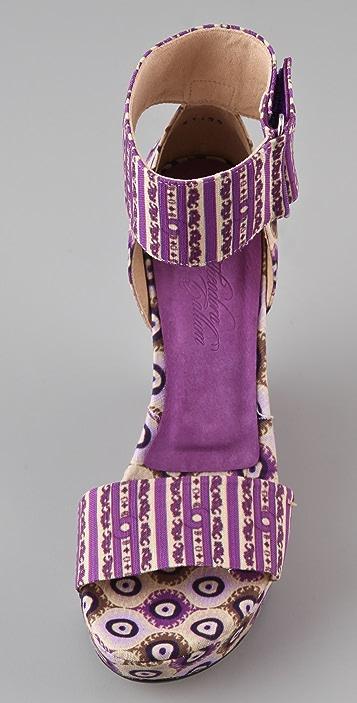 Theodora & Callum Mustique Platform Wedge Sandals