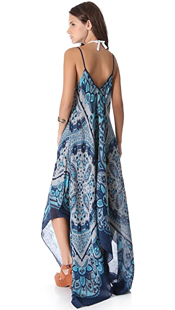 Theodora & Callum Lugano Scarf Cover Up Dress