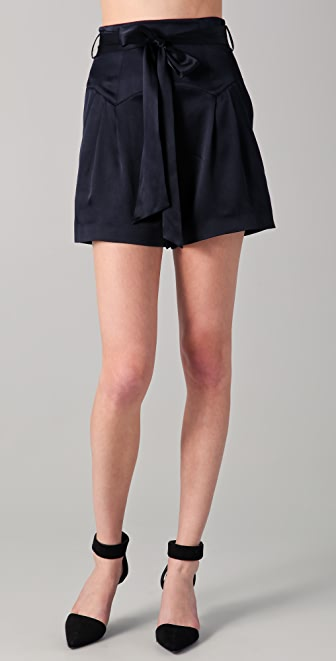 Temperley London Greta Satin Shorts