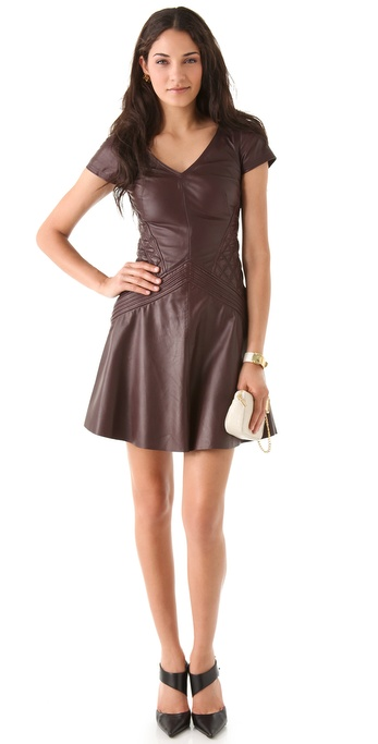 Temperley London Rolin Leather Dress