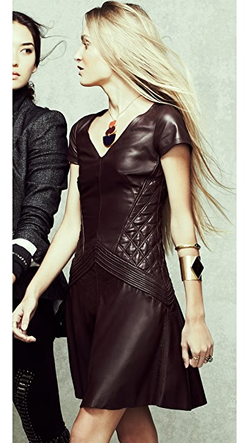 Temperley London Rolin Leather Dress