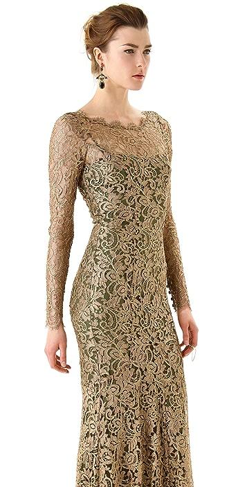 Temperley London Ariel Lace Maxi Dress