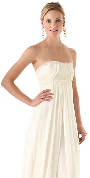 Temperley London Long Mirage Strapless Dress