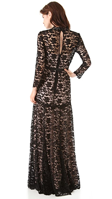 Temperley London Amoret Lace Maxi Dress