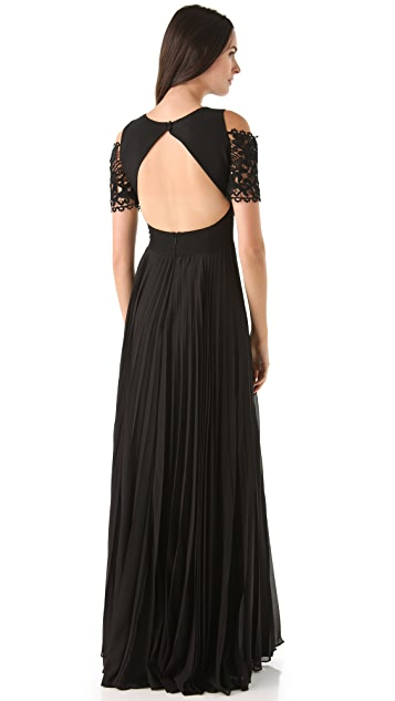Temperley London Catherine Lace Trim Gown