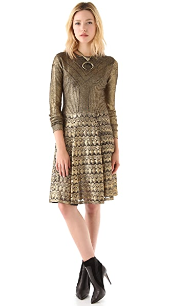 Temperley London Foil Sweater Dress