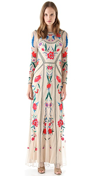 Temperley London Floral Embroidered Gown