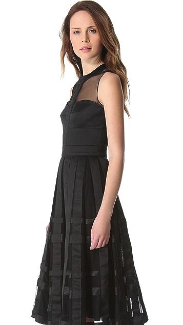 Temperley London Freya Ribbon Satin Dress