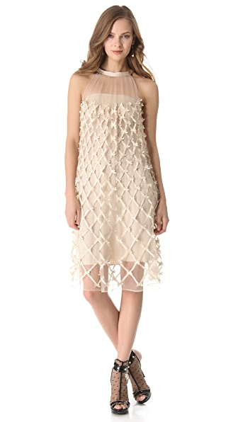 Temperley London Lattice Ribbon Mesh Dress