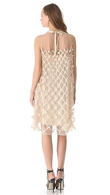 Temperley London Lattice Ribbon Mesh Dress