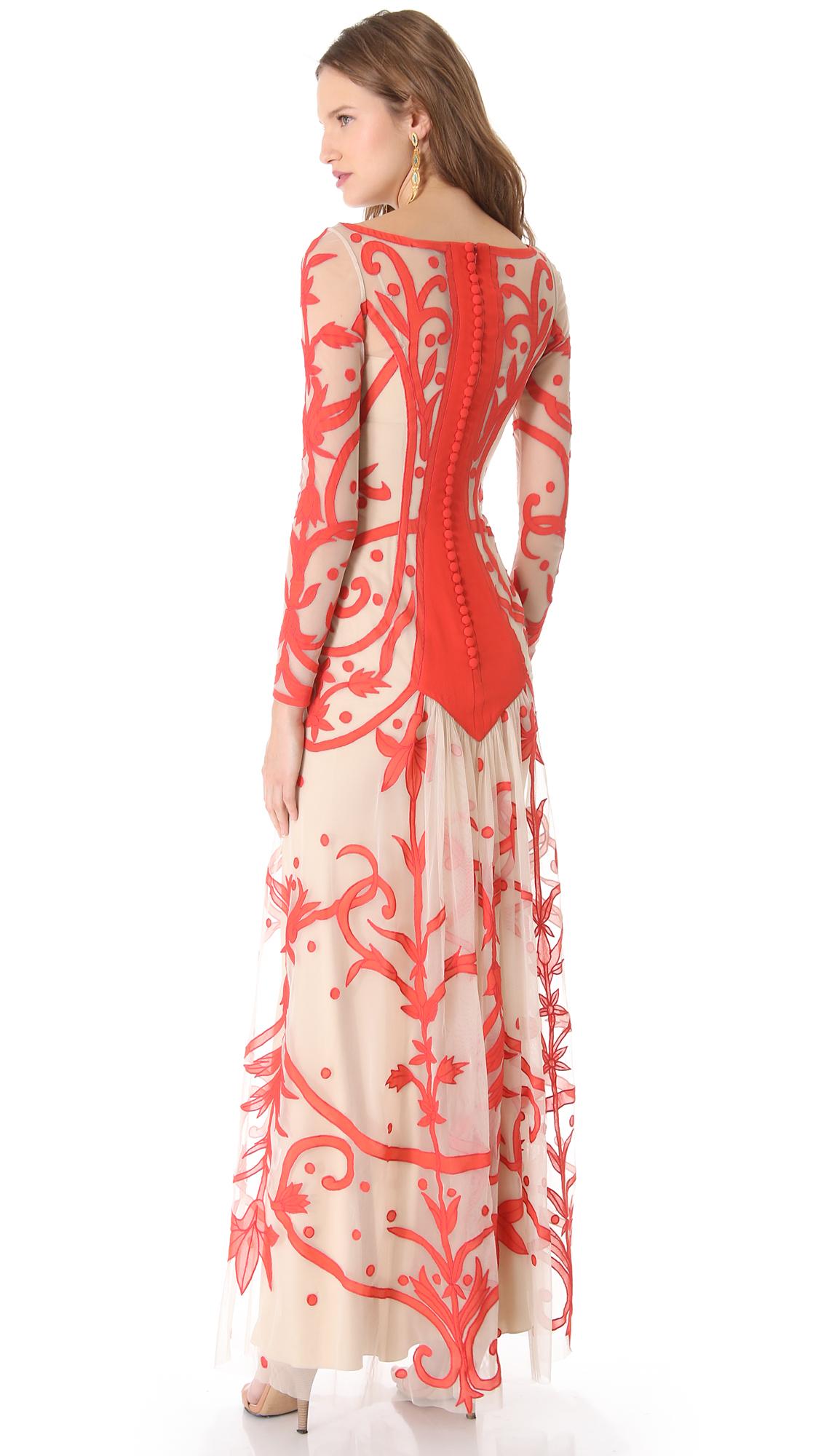 Temperley london long francine tattoo dress