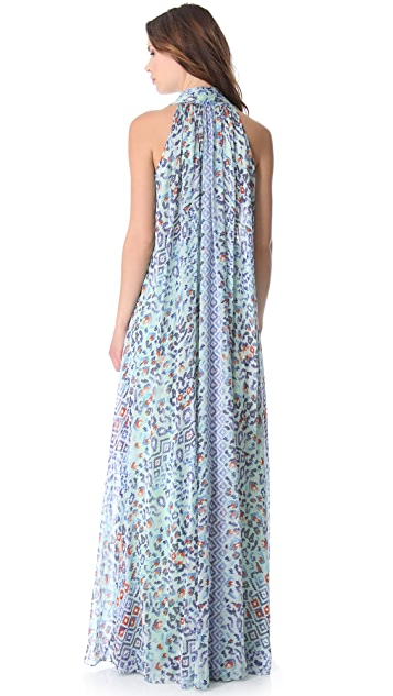 Temperley London Long Leopard Tile Dress