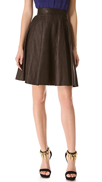 Temperley London Adele Leather Skirt