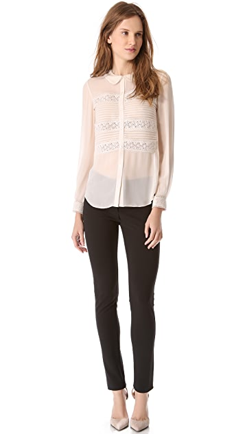 Temperley London Pleats & Lace Shirt