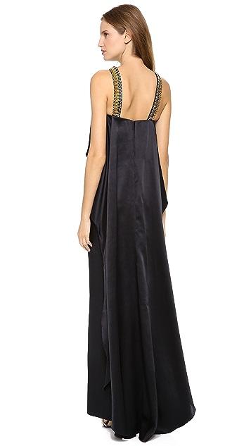 Temperley London Long Goldina Necklace Dress