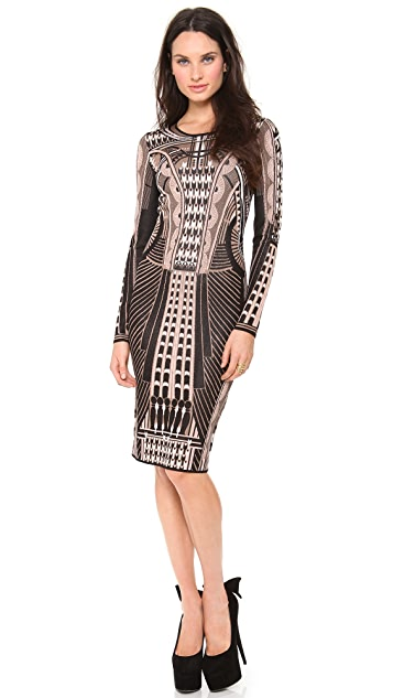 Temperley London Sphynx Knit Pencil Dress