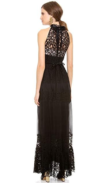 Temperley London Long Lily Graphic Dress