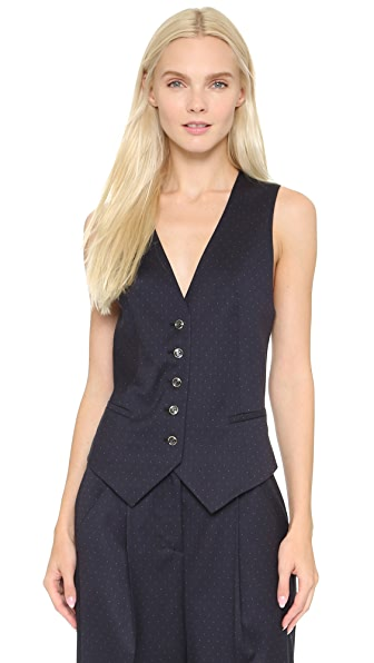 Temperley London Issac Point Cross Back Vest
