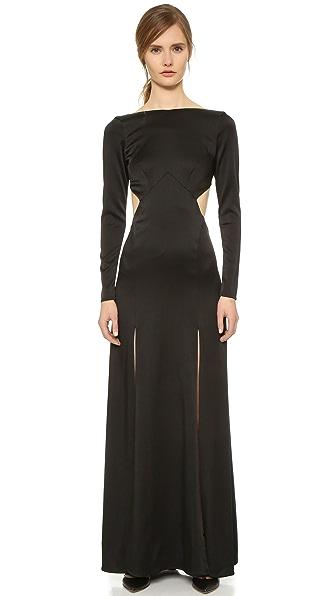 Temperley London Платье Madena с разрезами