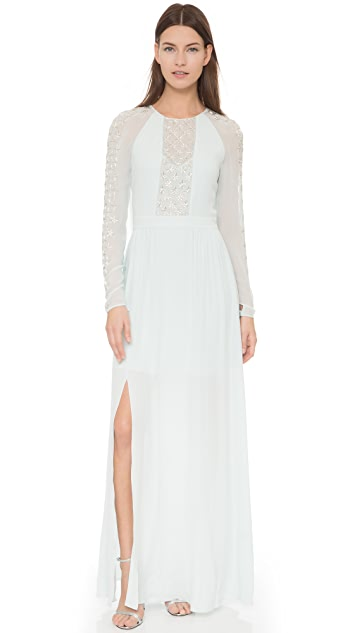 Temperley London Long Trixie Lattice Cape Dress