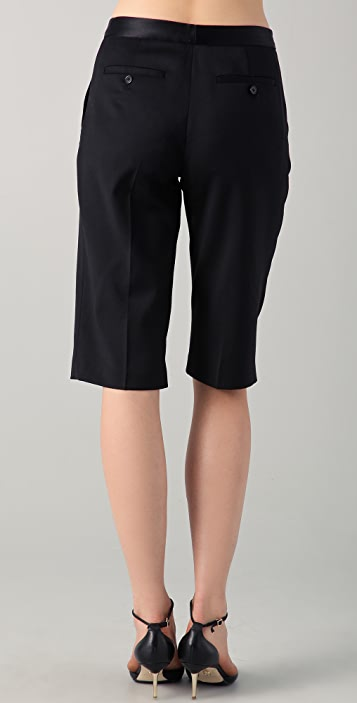 Tess Giberson Cropped Trousers with Satin Waistband