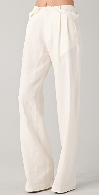 Tess Giberson Slouchy Trousers with Cut Waistband