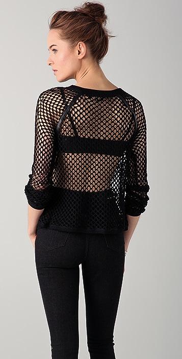 Tess Giberson Crochet Mesh Sweater