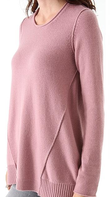 Tess Giberson Side Drape Cashmere Sweater