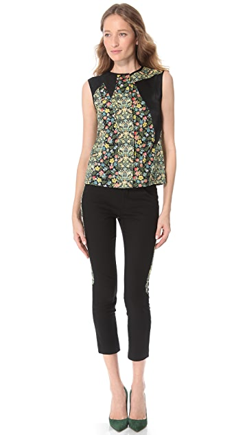 Tess Giberson Floral Pieced Top